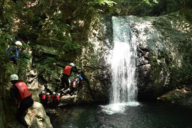 Canyoning tour down Kinu river